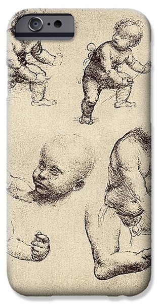 Preparatory Study iPhone Cases - Drawings Of A Child iPhone Case by Sheila Terry
