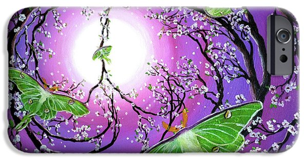 Cherry Blossoms iPhone Cases - Drawn to the Light iPhone Case by Laura Iverson