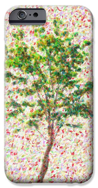 Seurat iPhone Cases - Dream argument iPhone Case by Taylan Soyturk