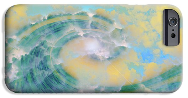 Abtracts iPhone Cases - Dream Wave iPhone Case by Linda Sannuti