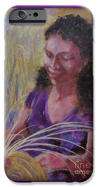 Michelle Obama Paintings iPhone Cases - Dream Weaver iPhone Case by Gertrude Palmer