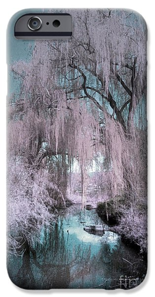 Willow Lake iPhone Cases - Dream Willows iPhone Case by Tara Turner