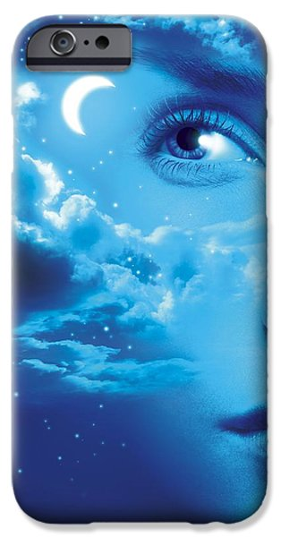 Dreaming, Conceptual Image iPhone Case by Smetek