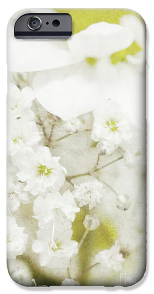 Flora Mixed Media iPhone Cases - Dreaming flowers iPhone Case by Angela Doelling AD DESIGN Photo and PhotoArt