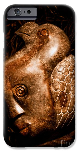 Botanical Figures iPhone Cases - Dreaming of Flying iPhone Case by Venetta Archer