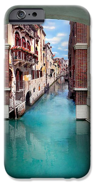 Hotel-room iPhone Cases - Dreaming Of Venice Vertical Panorama iPhone Case by Az Jackson