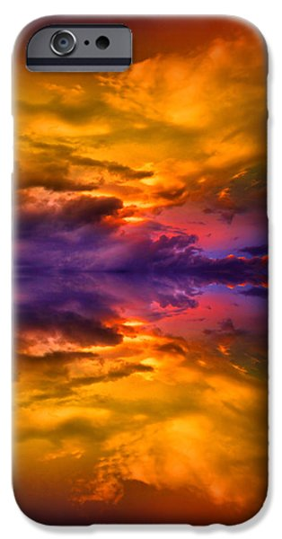 Dream Scape iPhone Cases - Dreaming Over Water iPhone Case by Tara Turner
