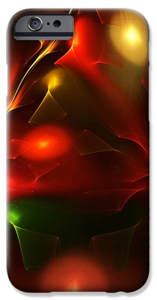 Expressionism Digital Art iPhone Cases - Dreams of Christmas Past iPhone Case by David Lane