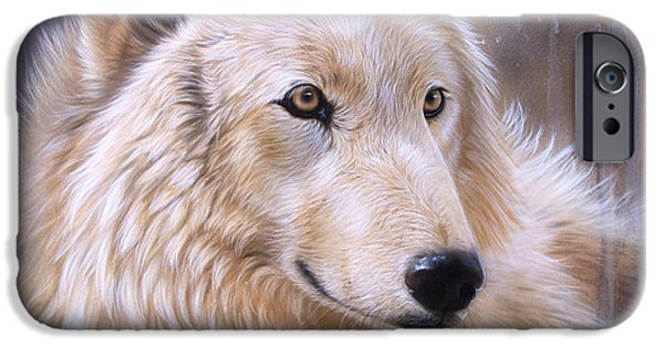 Airbrush iPhone Cases - Dreamscape - Wolf II iPhone Case by Sandi Baker