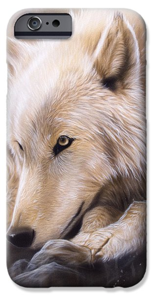 Dreamscape - Wolf iPhone Case by Sandi Baker
