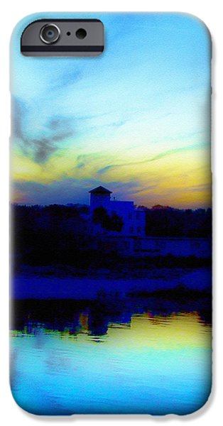 Dreamscape Blue Water Sunset  iPhone Case by Nada Frazier