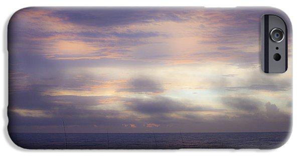 Inferno iPhone Cases - Dreamy Blue Atlantic Sunrise iPhone Case by Teresa Mucha