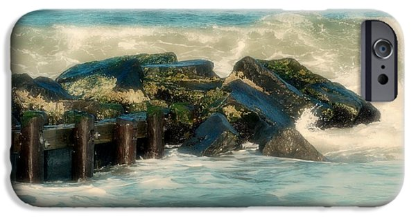 Bay Head Beach iPhone Cases - Dreamy Jetty - Jersey Shore iPhone Case by Angie Tirado