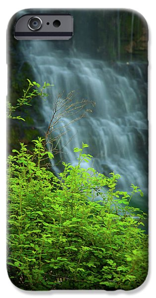 Arkansas iPhone Cases - Dreamy Waterfalls iPhone Case by Iris Greenwell