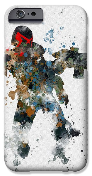 Science Mixed Media iPhone Cases - Dredd iPhone Case by Rebecca Jenkins