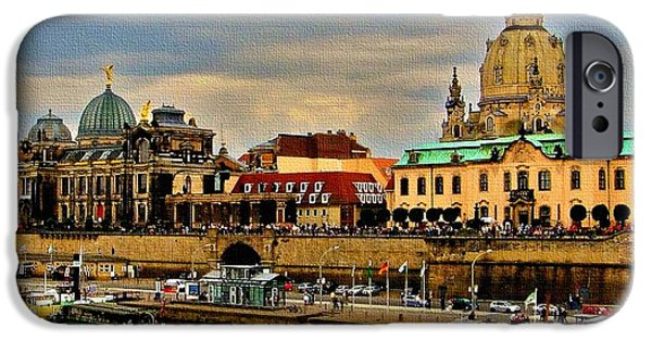 Business Paintings iPhone Cases - Dresden Germany Catus 1 no. 1 H A iPhone Case by Gert J Rheeders
