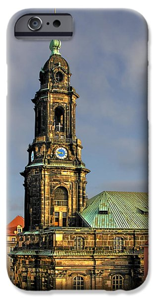 Deutschland iPhone Cases - Dresden Kreuzkirche - Church of the Holy Cross iPhone Case by Christine Till