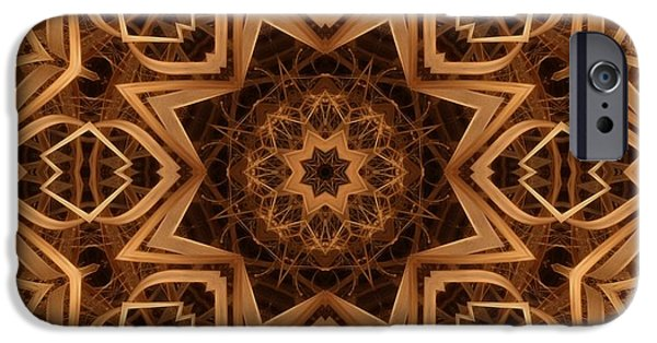 Kaleidoscope iPhone Cases - Dried Grass Mandala iPhone Case by Lyle Hatch
