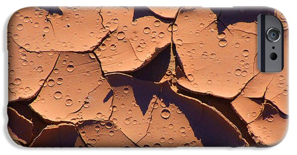 Nature Abstracts iPhone Cases - Dried Mud 3c iPhone Case by Mike McGlothlen