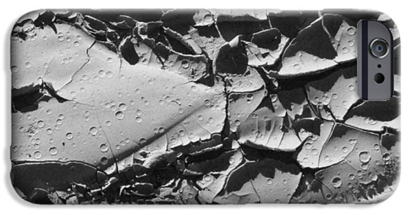 Nature Abstracts iPhone Cases - Dried Mud 5 iPhone Case by Mike McGlothlen