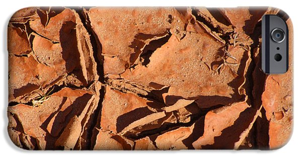 Nature Abstracts iPhone Cases - Dried Mud C iPhone Case by Mike McGlothlen