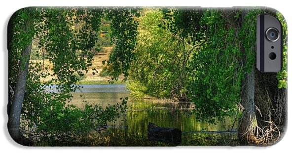 Watson Lake iPhone Cases - Drifting in Paradise iPhone Case by Thomas  Todd