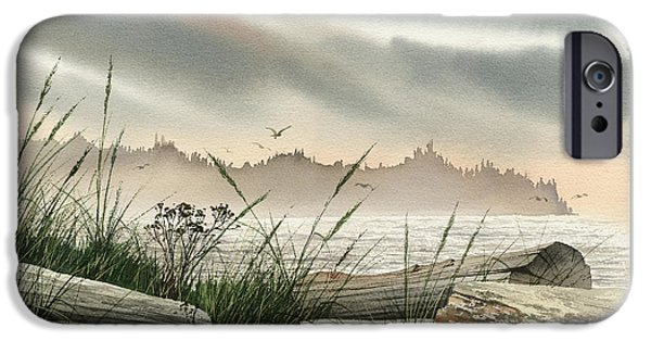 Landscape Framed Prints iPhone Cases - Driftwood Glow iPhone Case by James Williamson
