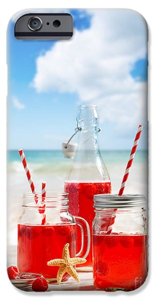 Raspberry iPhone Cases - Drinks At The Beach iPhone Case by Amanda And Christopher Elwell