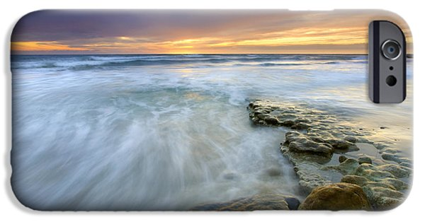 Ocean Sunset iPhone Cases - Driven before the storm iPhone Case by Mike  Dawson