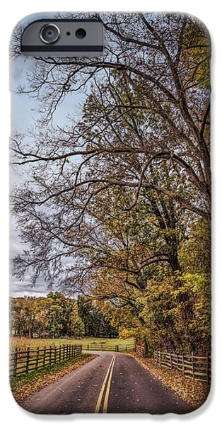 Pathway iPhone Cases - Driving through Antietam iPhone Case by John Bailey