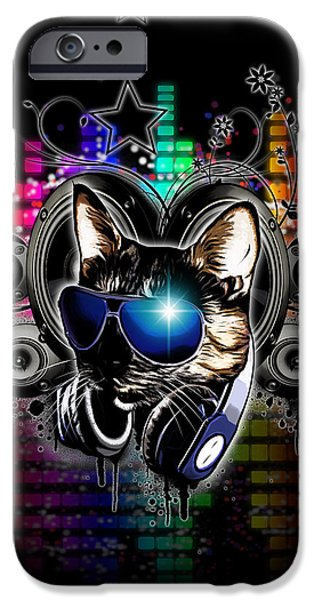 Swirls iPhone Cases - Drop The Bass iPhone Case by Nicklas Gustafsson