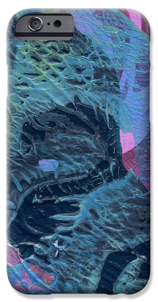 Abstract Digital Mixed Media iPhone Cases - Drowning iPhone Case by Laura L Leatherwood