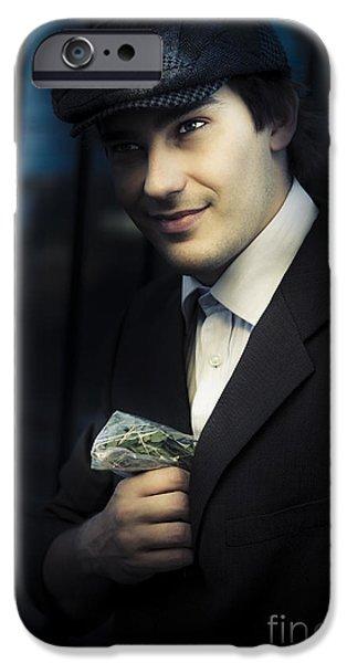 Drug Traffickers iPhone Cases - Drug Dealer With Marijuana iPhone Case by Ryan Jorgensen