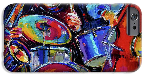 Musical iPhone Cases - Drums And Friends iPhone Case by Debra Hurd