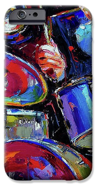 Drums And Friends iPhone Case by Debra Hurd