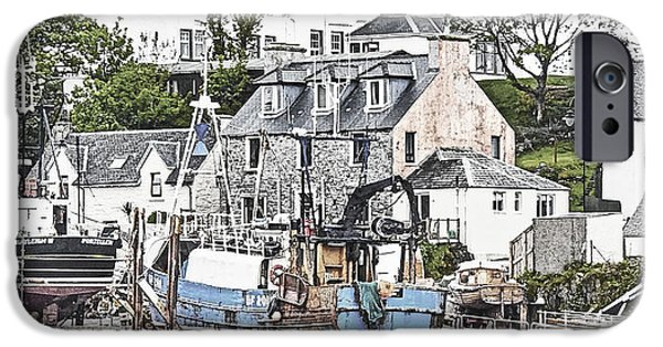 Village iPhone Cases - Dry Docked in Mallaig iPhone Case by AGeekonaBike Photography