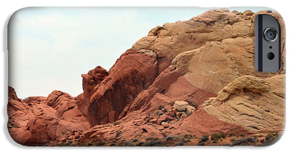 Red Rock Tapestries - Textiles iPhone Cases - Dual Colours iPhone Case by Edna Weber