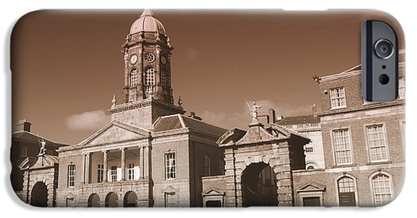 City Scape Photographs iPhone Cases - Dublin Castle iPhone Case by Eva Ason