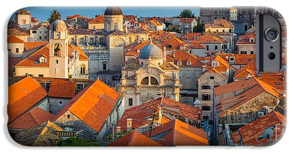 Ocean Panorama iPhone Cases - Dubrovnik Panorama iPhone Case by Inge Johnsson