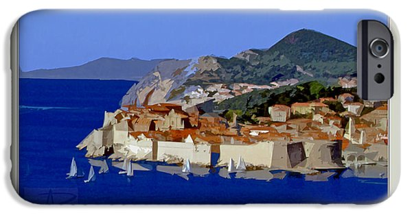 Abstract Seascape iPhone Cases - Dubrovnik - Regata iPhone Case by Ante Barisic