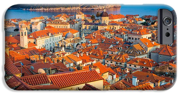 Building iPhone Cases - Dubrovnik Rooftops iPhone Case by Inge Johnsson