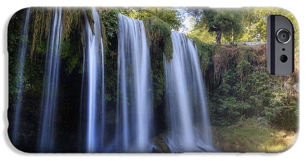 Asien iPhone Cases - Duden Waterfall - Turkey iPhone Case by Joana Kruse