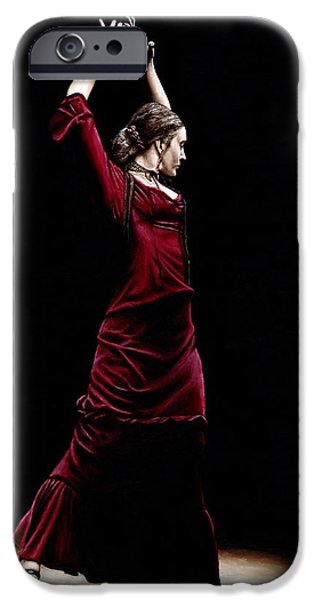 Standing Paintings iPhone Cases - Duende iPhone Case by Richard Young
