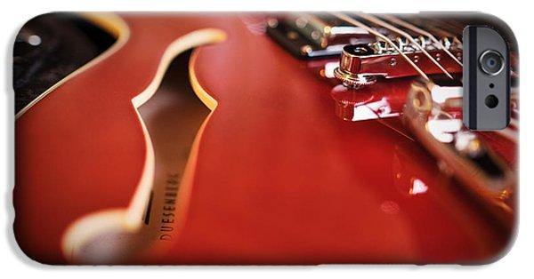 Guitar Strings iPhone Cases - Duesenberg iPhone Case by Rick Berk