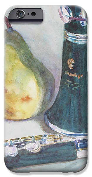 Pears iPhone Cases - Duet for a Pear iPhone Case by Jenny Armitage
