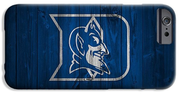 Duke iPhone Cases - Duke Blue Devils Barn Door iPhone Case by Dan Sproul