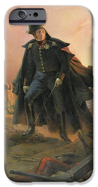 23 iPhone Cases - Duke of Angouleme at the capture of Trocadero iPhone Case by Hippolyte Delaroche