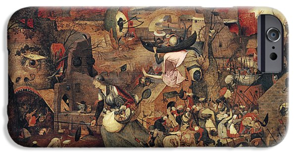 Mental Paintings iPhone Cases - Dull Gret iPhone Case by Pieter the Elder Bruegel