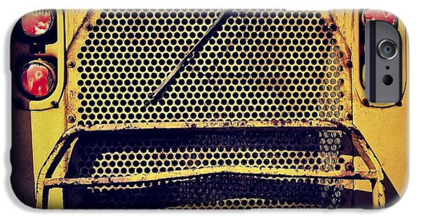 Caterpillar iPhone Cases - Dump Truck Grille iPhone Case by Amy Cicconi