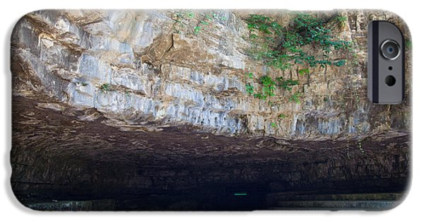 Overhang iPhone Cases - Dunbar Cave iPhone Case by Melinda Fawver